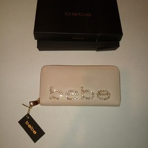 NWT Pink Leather bebe Wallet